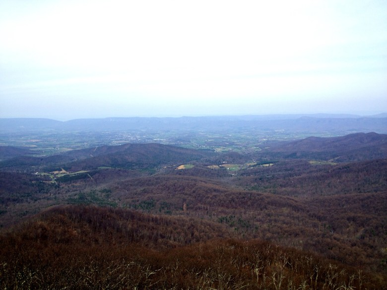 View from the top of Mary's Rock in Shenandoah National Park.