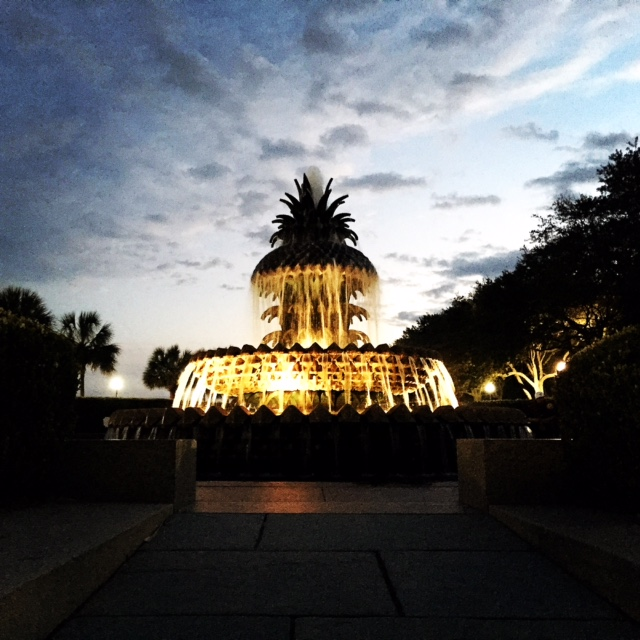 Charleston's pineapple fountain is a symbol of hospitality.