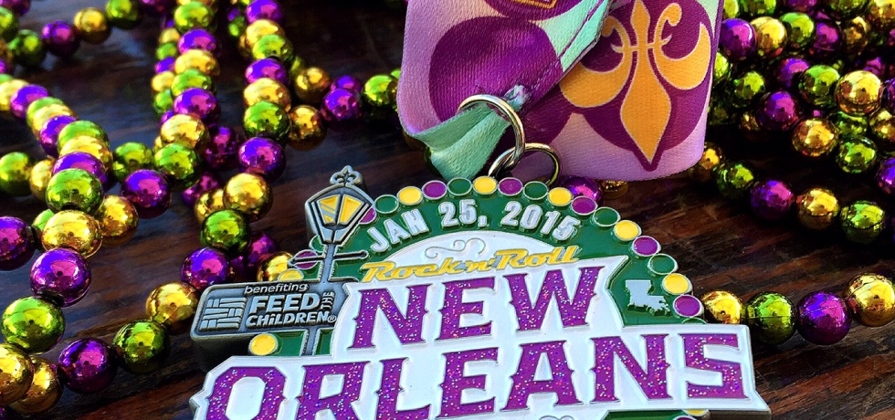Blinging out at RnRNOLA's bead your medal station.