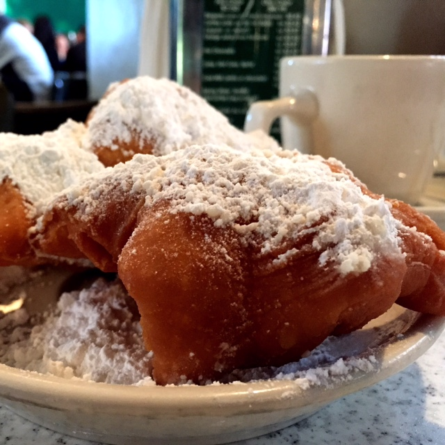 Cafe du Monde's beignets. Look how beautiful they are.