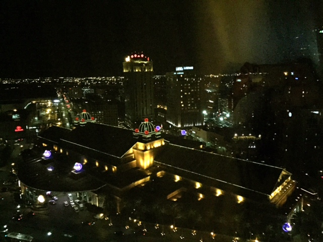 View of New Orleans from my hotel room.
