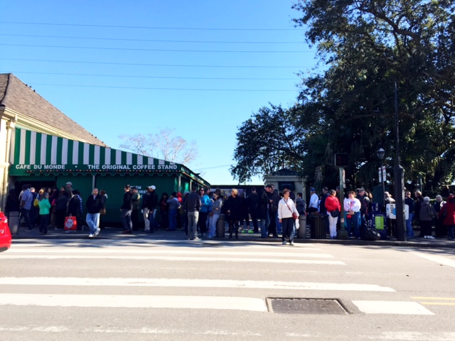 Check out that line for Cafe du Monde.
