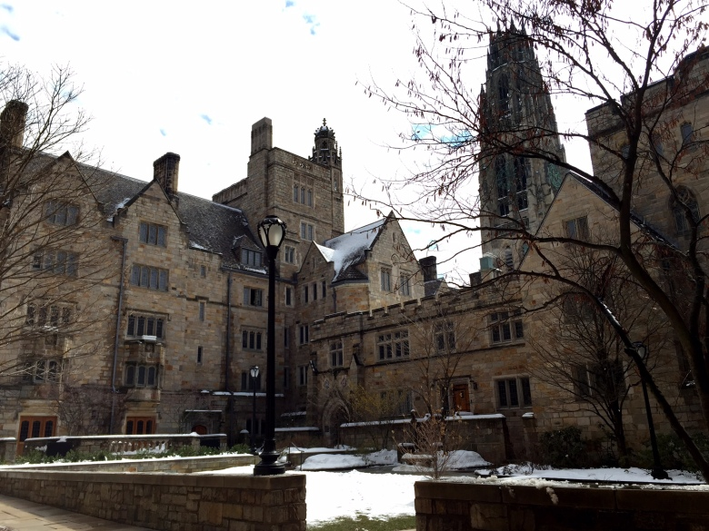 Touring Yale — beautiful architecture.