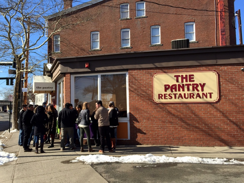 Line outside of The Pantry in New Haven.