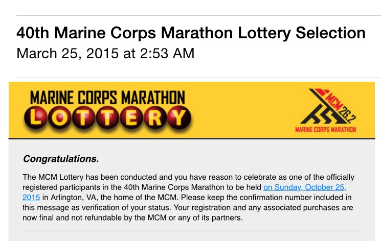 Marine Corps Marathon 2015