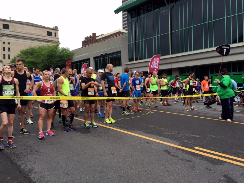 Runners at the start!