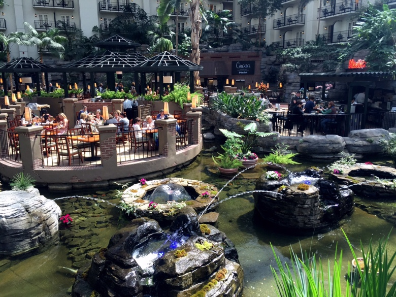 The atrium at the Opryland Hotel.