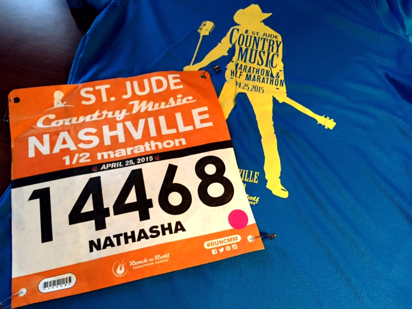 Got my race bib for the Country Music Half! I'm ready to Rock n Roll! (Ha)