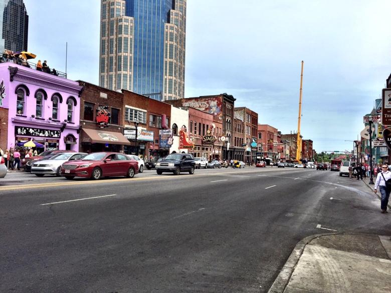 Lower Broadway in Nashville.