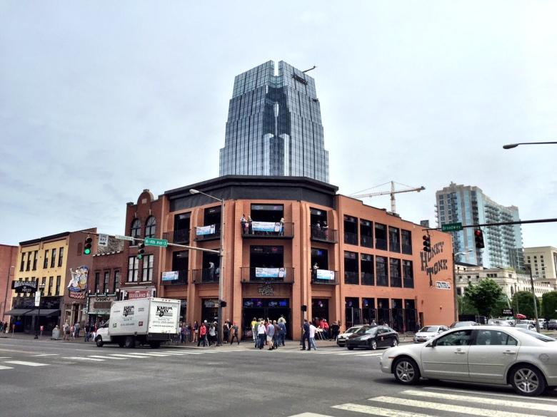 Wandering around Broadway in Nashville.