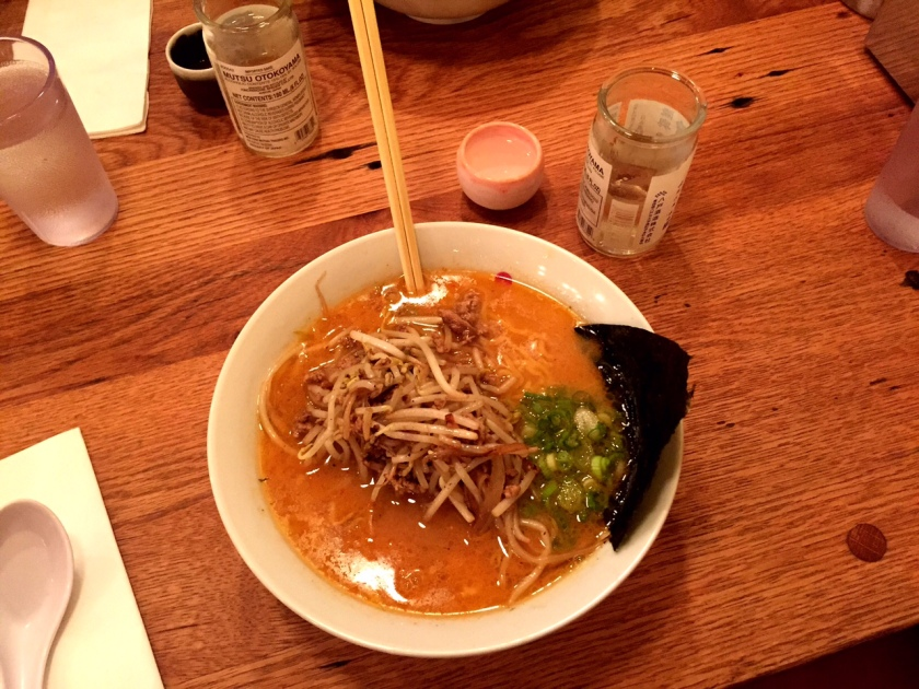 There was 1.5 hour wait at Daikaya. The ramen was worth it.