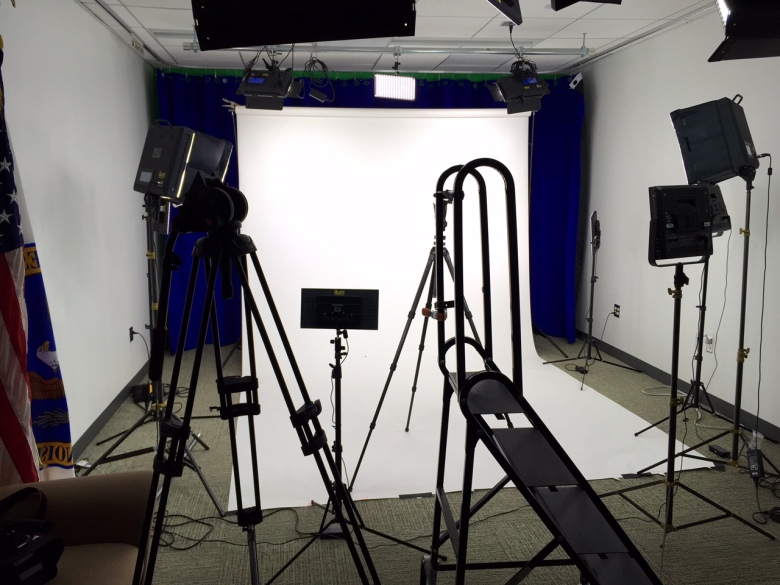 Our setup for the photo shoot.