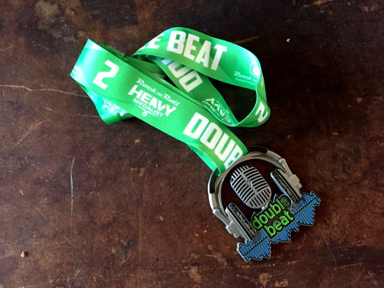 Rock n Roll's Double Beat medal.