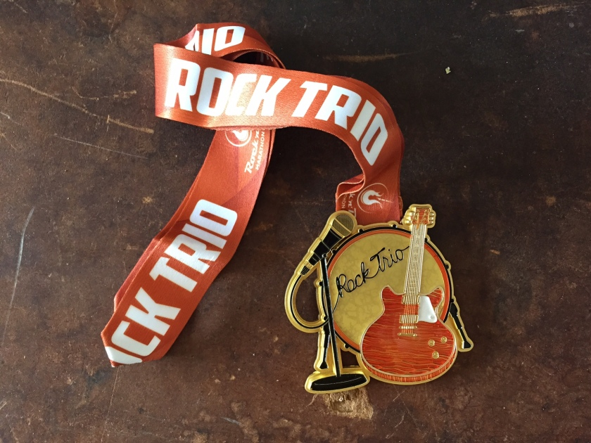 Rock n Roll's Rock Trio medal.