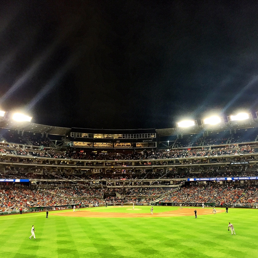 Beltway Series at Nationals Park — beautiful night for a baseball game.