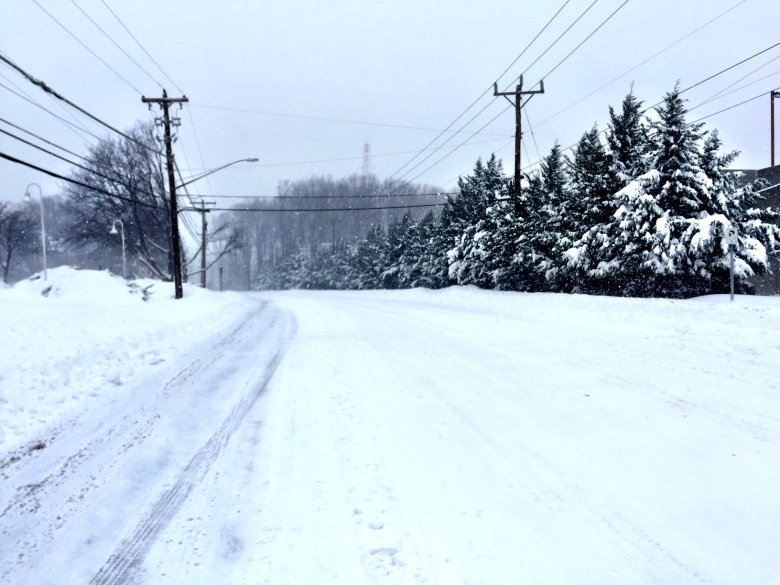 The streets were looking pretty decent this morning in Bethesda, Md.