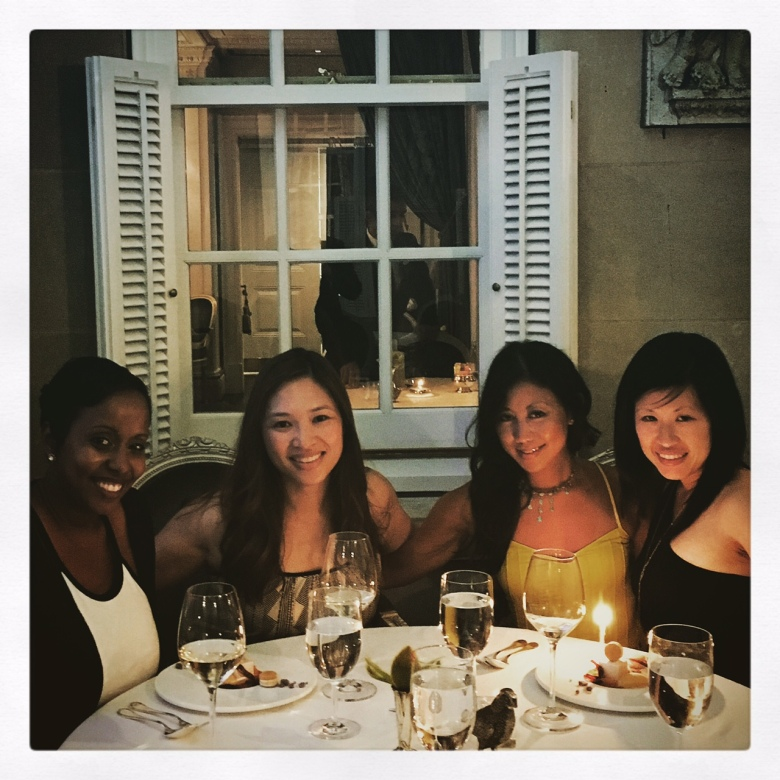Birthday celebration with the girls.