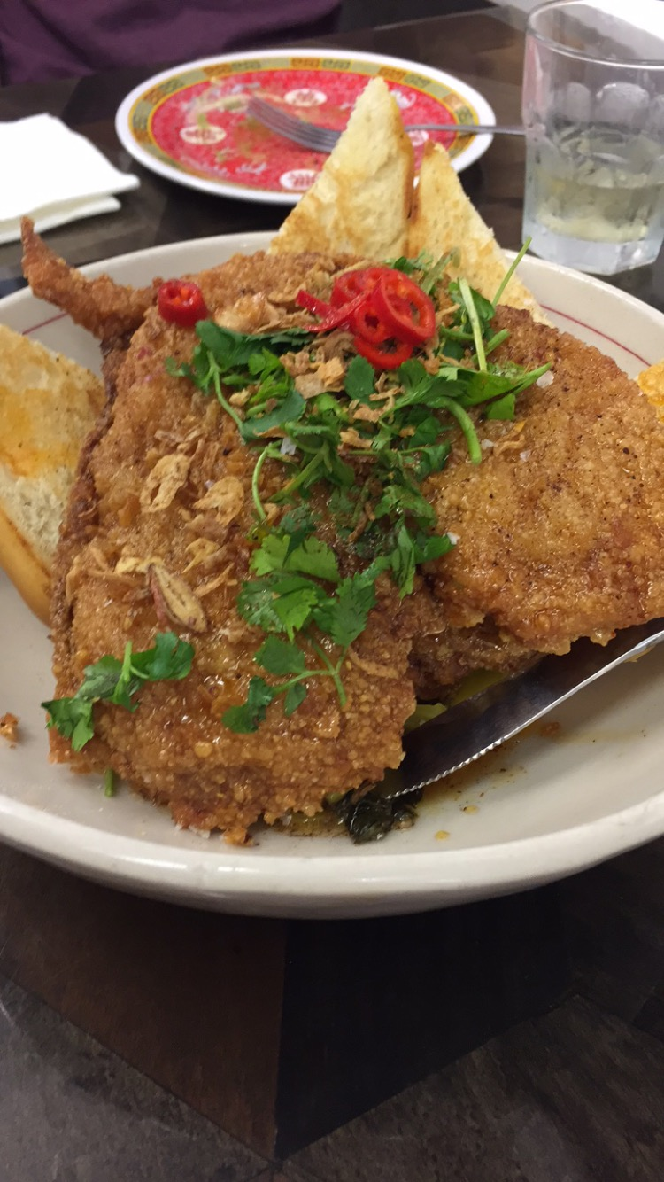 Maketto's fried chicken is amazing.