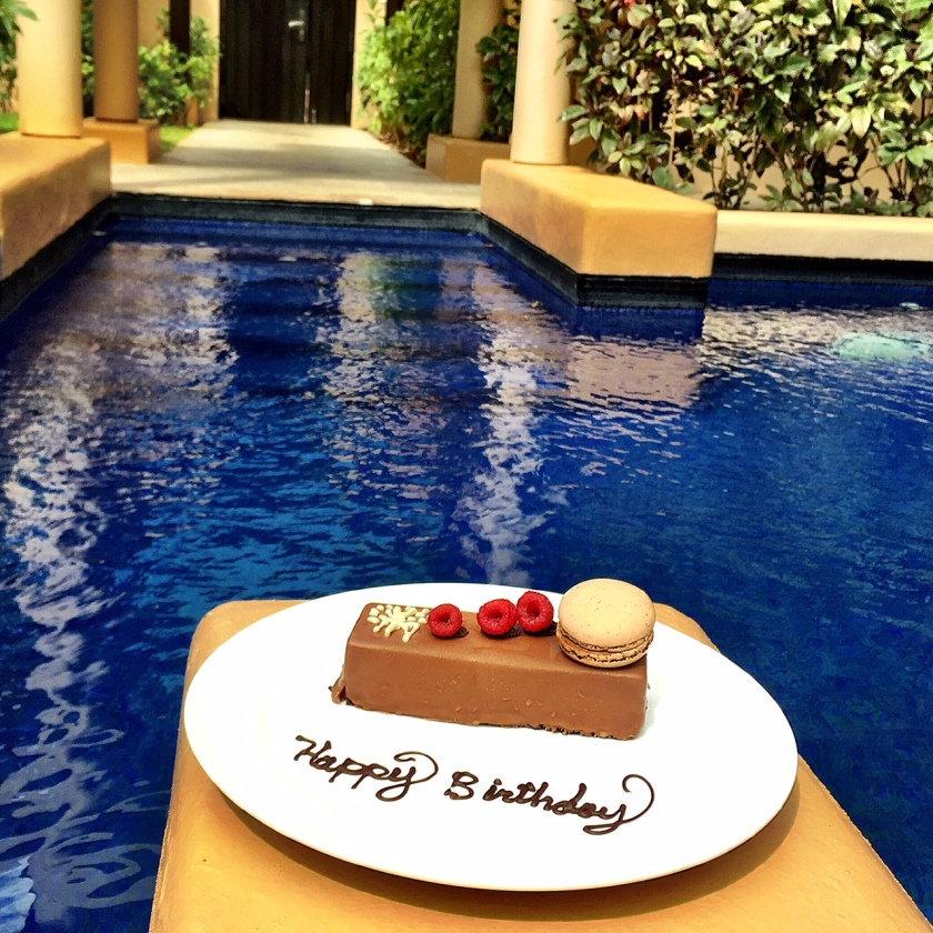 Came back to the room Wednesday afternoon to this sweet surprise. Thanks, Banyan Tree!