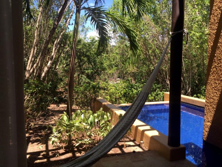 Backyard of our villa. I love hammocks.