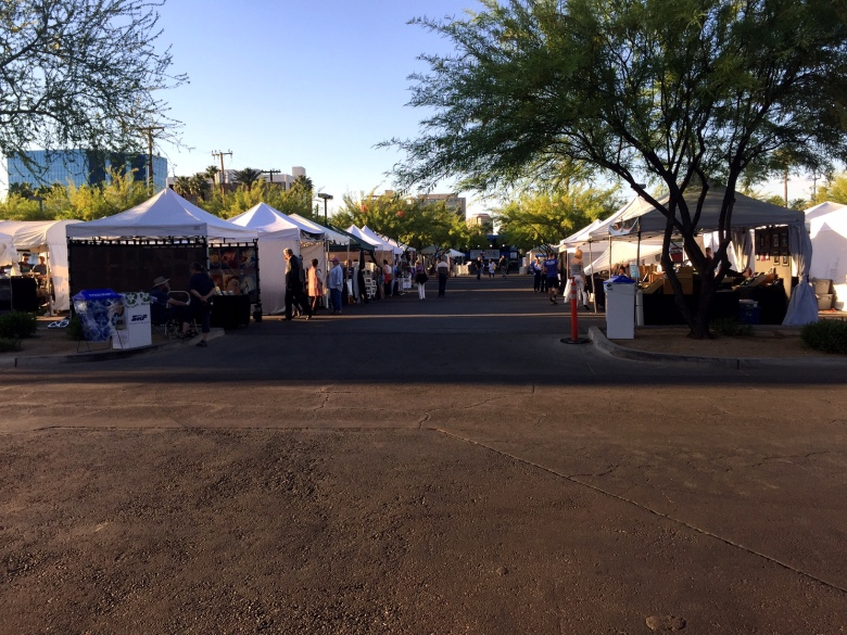 Tents at the Arizona Pride Run expo/festival