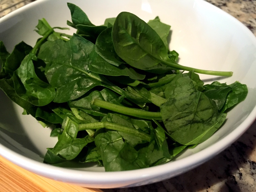 Prep spinach