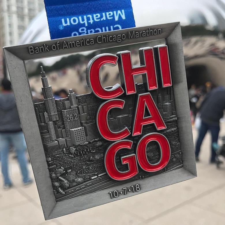 2018 Chicago Marathon Medal